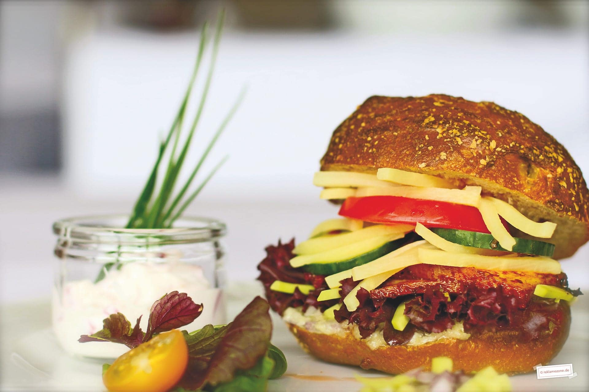 Burger, Deluxe (vegetarisch). Foto: reklamezone.de