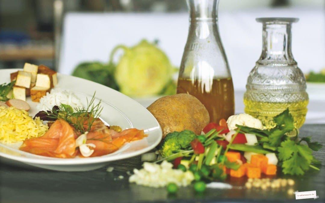 Gemüsesuppe mit i-Tüpfelchen