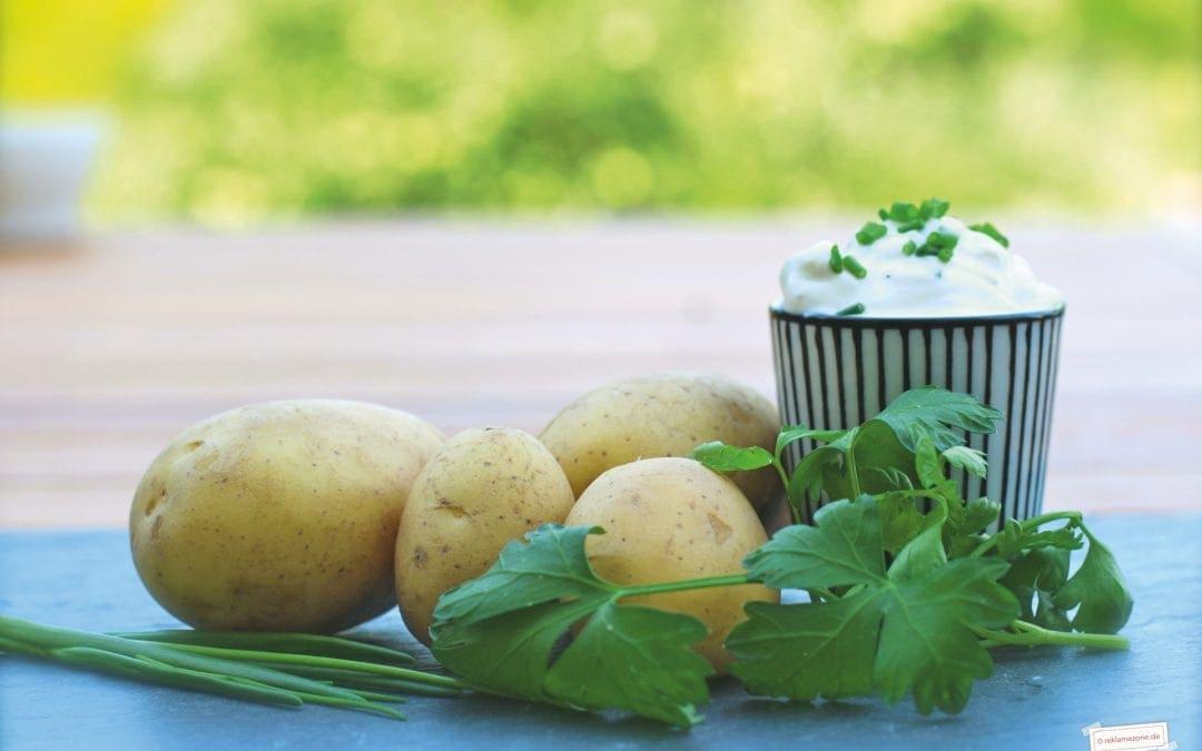 Kartoffelgerichte, Pellkartoffeln mit Kräuterquark
