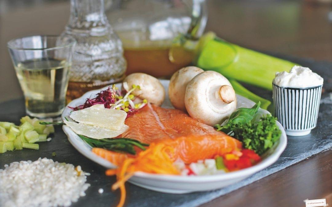 Reisgerichte, Risotto mit Lachs