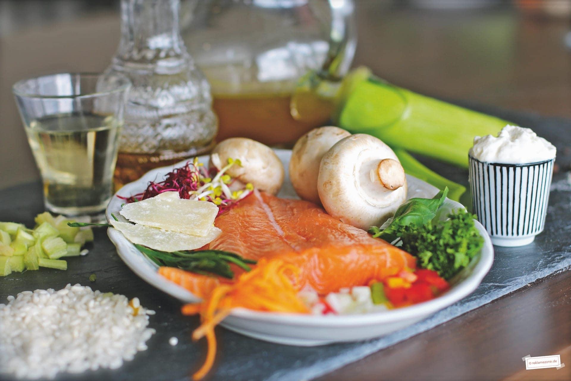 Reisgerichte, Risotto mit Lachs - Foto: reklamezone.de