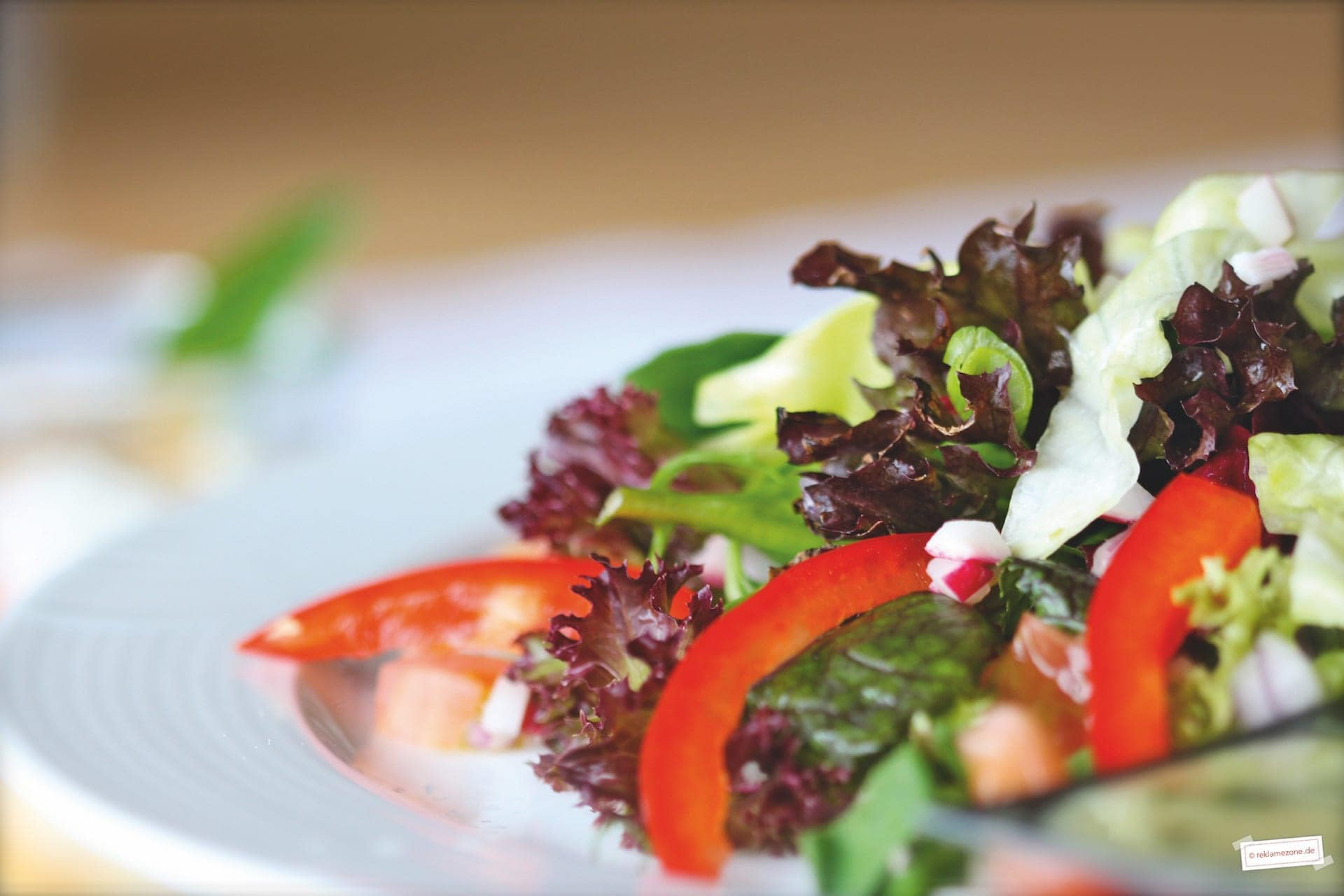 Salat mit Dressing, selbstgemacht - Foto: reklamezone.de