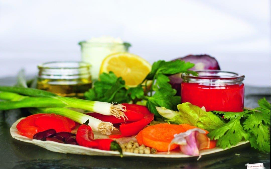 Wraps mit selbstgemachter Salsa