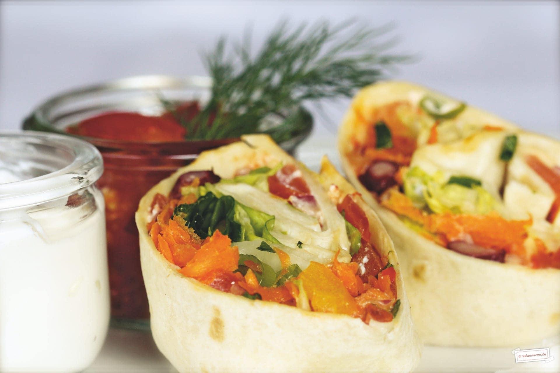 Wraps, mit selbstgemachter Salsa - Foto: reklamezone.de